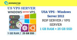 USA Windows RDP VPS 1GB RAM 1vCPU Guaranteed 30 days