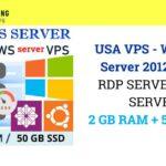 USA Windows RDP VPS 2GB RAM 1vCPU Guaranteed 30 days