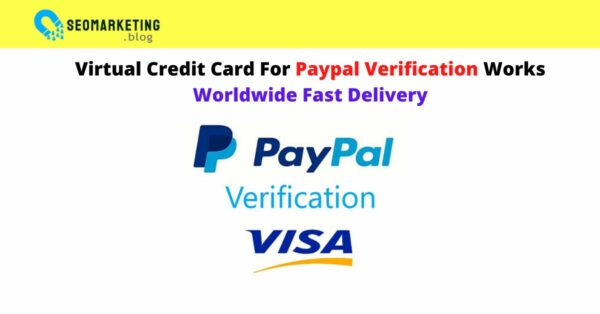 VCC Virtual Credit Card For Paypal Verification Works Worldwide Fast Delivery